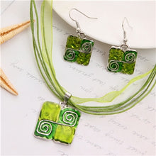 Load image into Gallery viewer, Boho Square Swirls Jewelry Sets