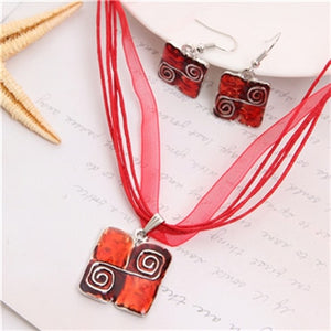 Boho Square Swirls Jewelry Sets