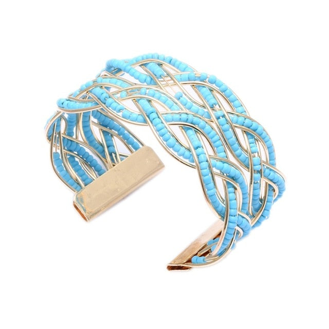 Boho Gold Hollow Bangles