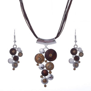 Multilayer Leather Boho Jewelry Set