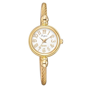 Adjustable Twisted Bangle Watch