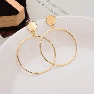 Large Boho Gold and Silver Hooped Earring