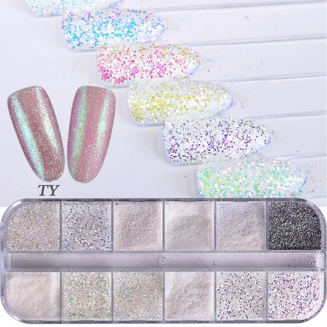 Mermaid Nail Glitter Sets