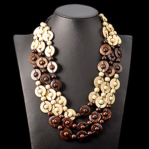 Bohemia Wooden Natural Necklace