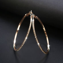Load image into Gallery viewer, Austrian Crystal Hoop Earrings