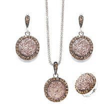 Load image into Gallery viewer, Vintage Crushed Gem Jewelry Set