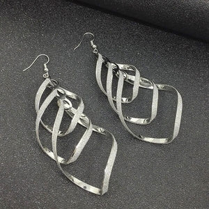 Regal Twist Drop Earrings