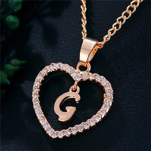 Personal Love Heart Necklace