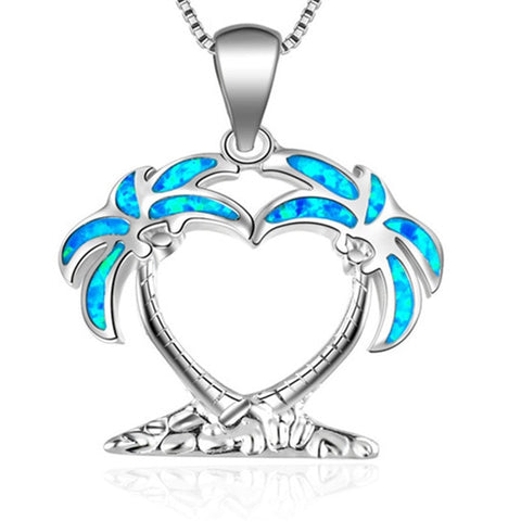 Palm Tree Island of Love Necklace