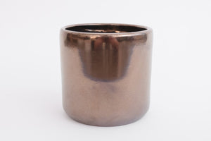"6"" Pot / Planter - Bronze Cylinder"