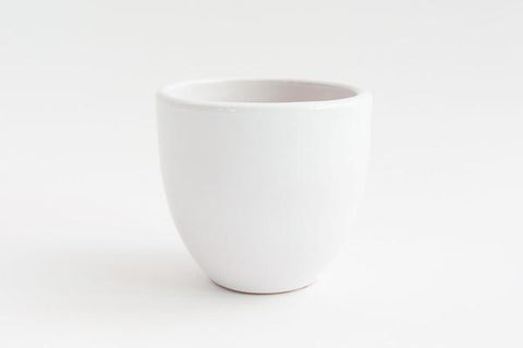 "5"" Pot / Planter - Gloss White Bell"