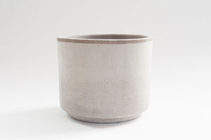 "6"" Pot / Planter - Graphite Clay Cylinder"
