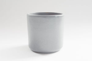 Matte Gray Cylinder -  Pot / Planter