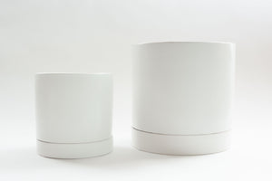 Matte White with Flush Tray - Pot / Planter