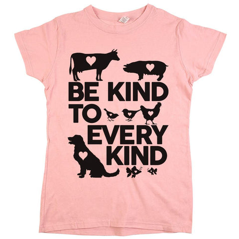 be kind to every kind animal rights t shirt