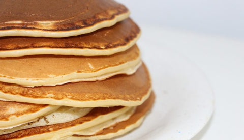 stack of vegan pancakes