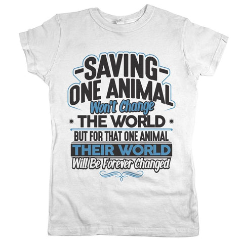 saving one animal rescue shirts