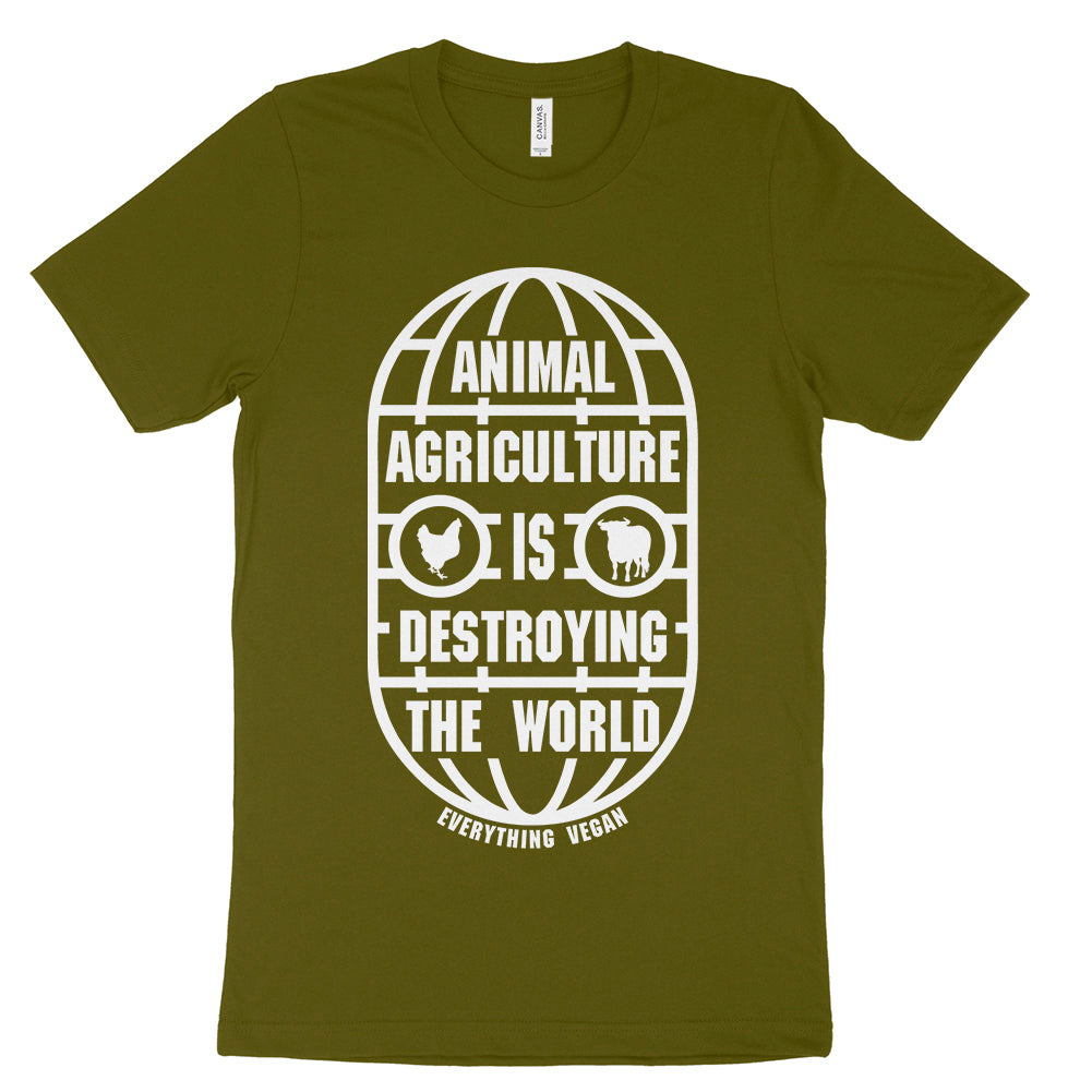 Animal Agriculture Is Destroying The World Shirt Everything Vegan