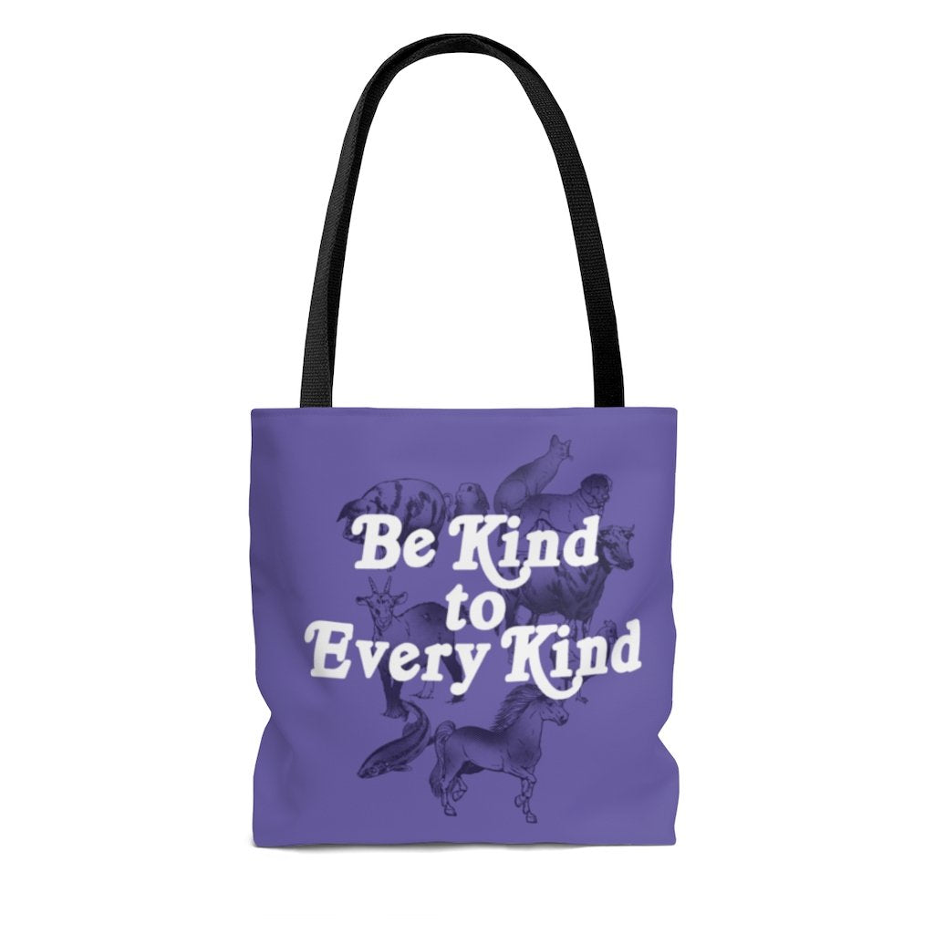 be kind to every kind vegan tote