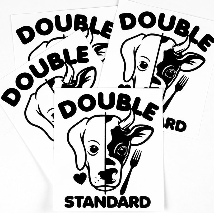 'Double Standard' Sticker