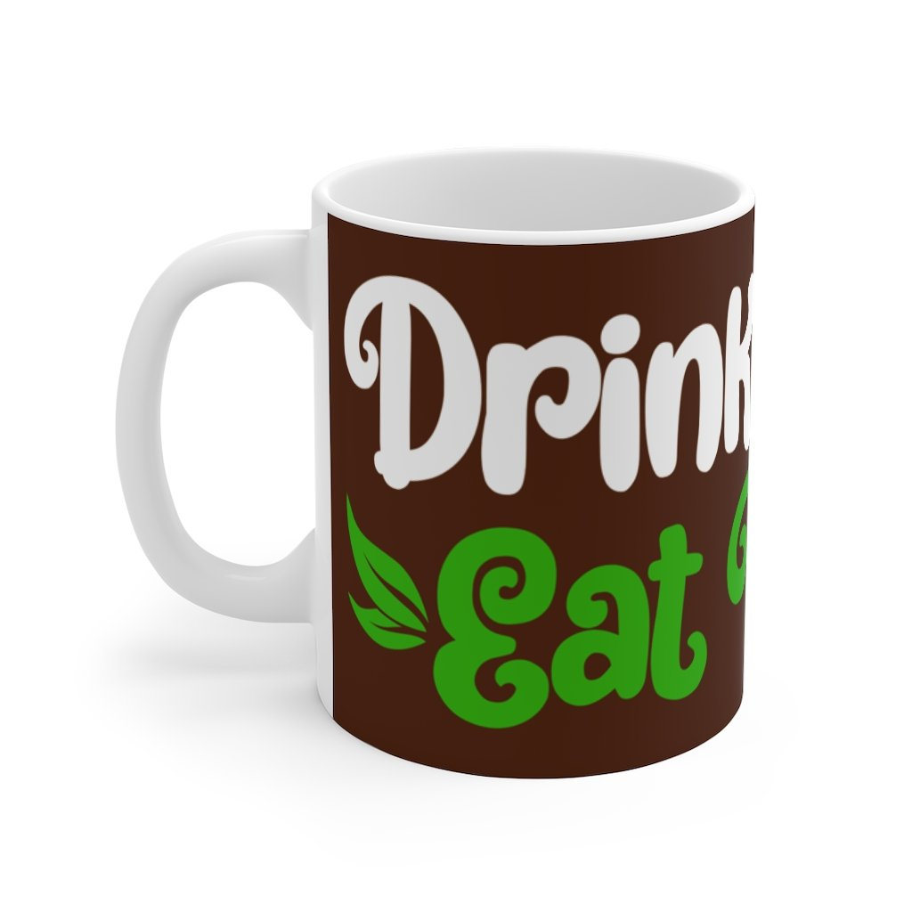 vegan coffee mug drink coffee eat plants