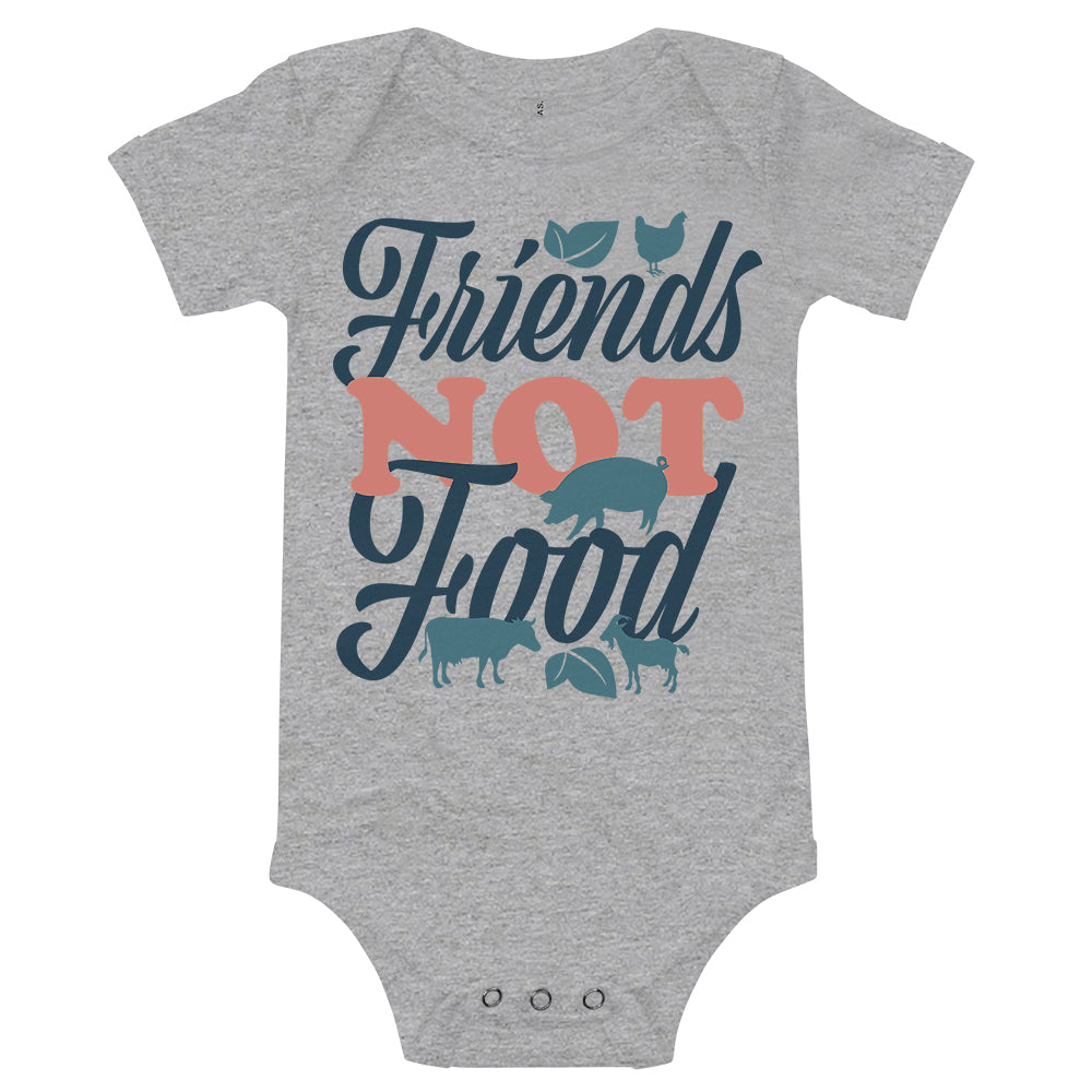 'Friends Not Food' Infant Onesie