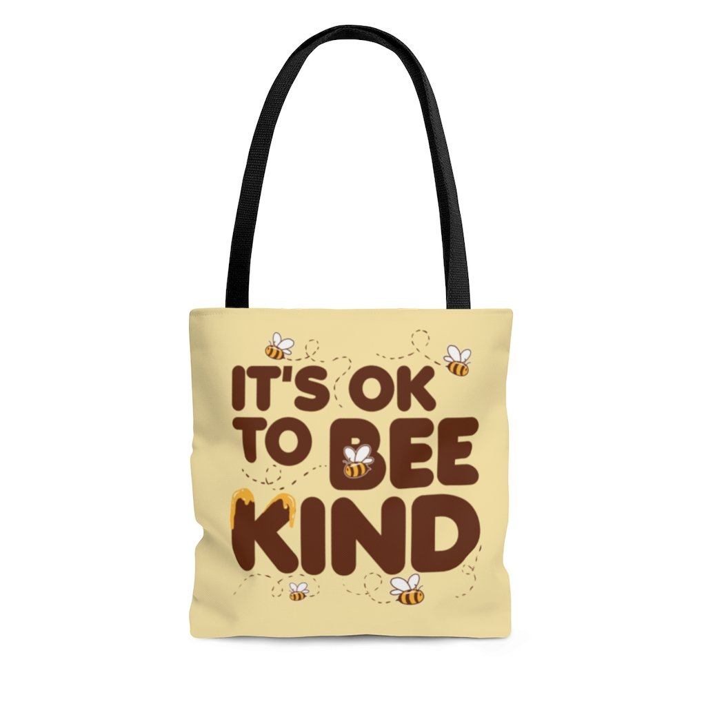It's Ok To Bee Kind Vegan Bag Tote