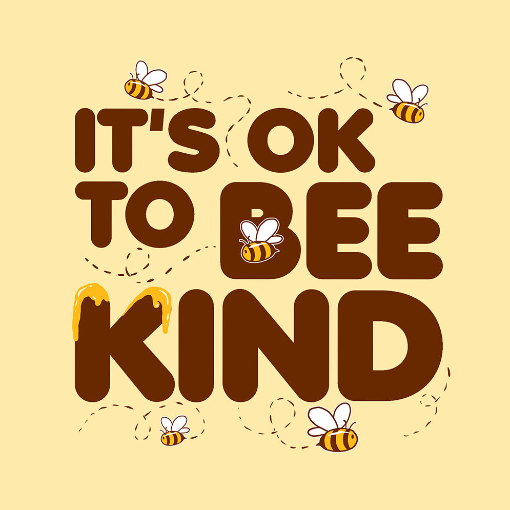 Its ok to bee kind vegan tote