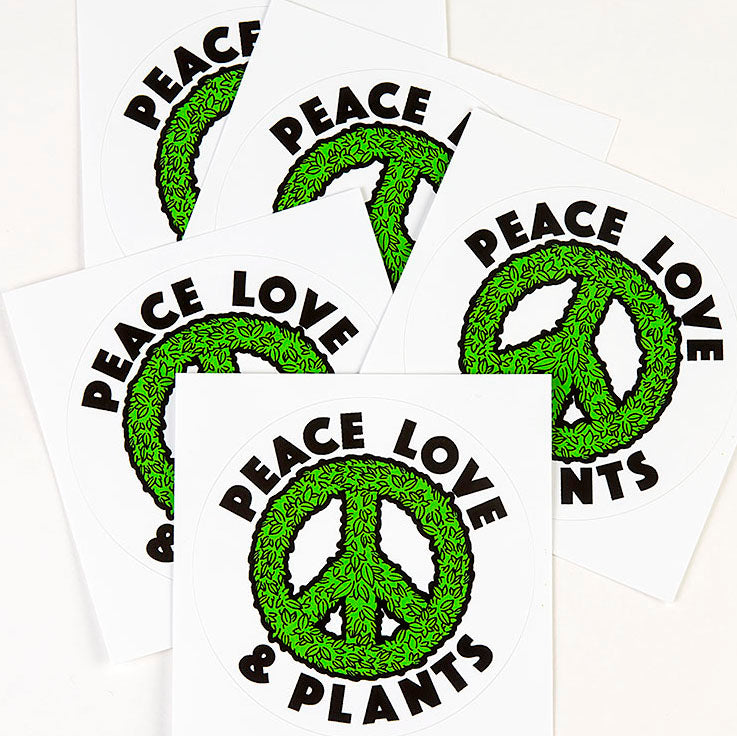 'Peace Love Plants' Sticker