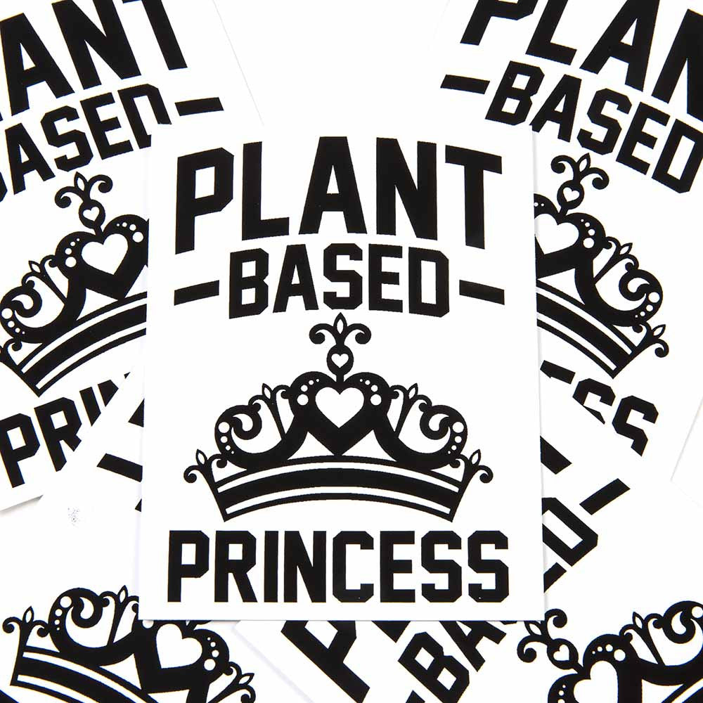 'Plant Based Princess' Sticker