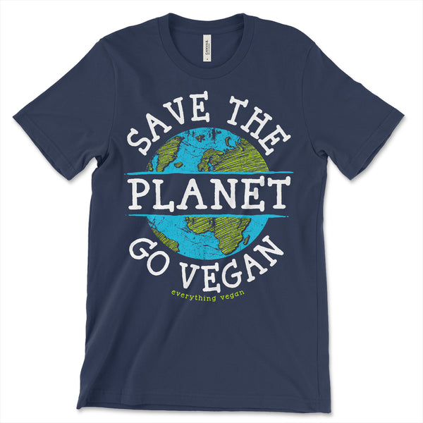 Save the Planet Go Vegan Shirt