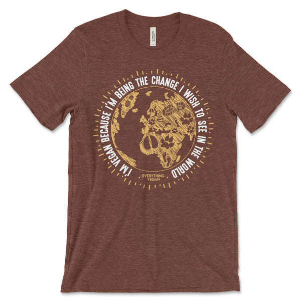 Vegan Change The World Tee Shirt