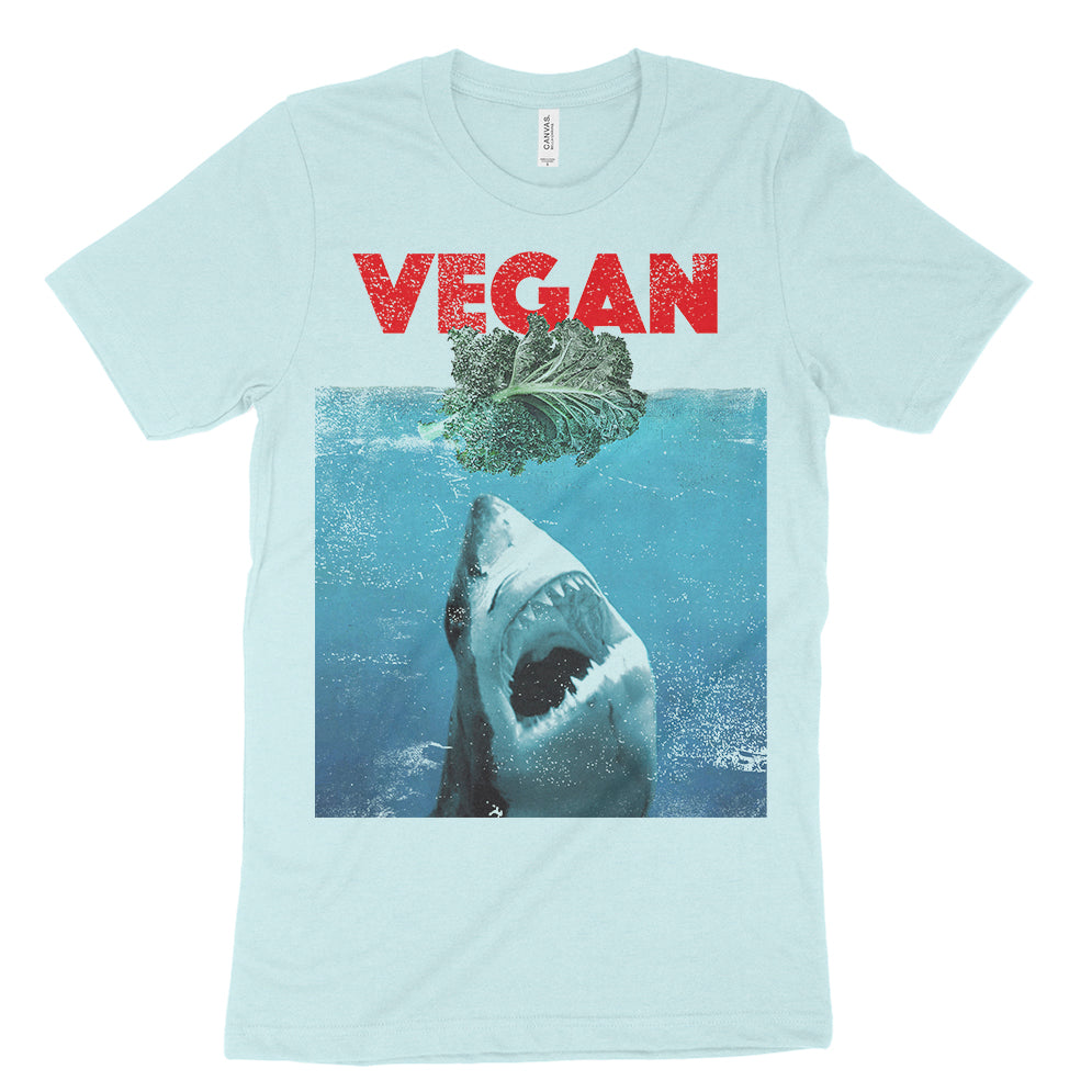 vegan jaws parody t shirt