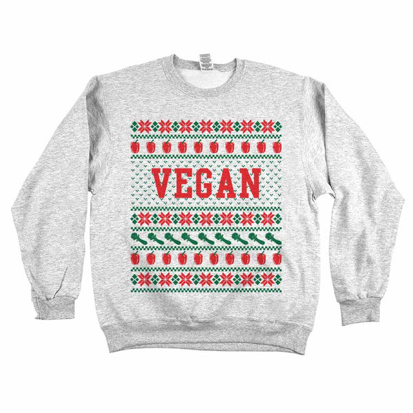 Vegan Ugly Sweater Sweatshirt Ash Grey