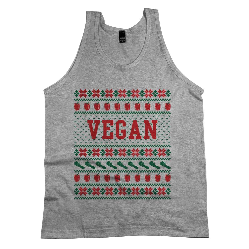 Vegan Ugly Sweater Tank Top Athletic Grey