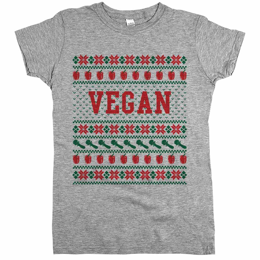 Vegan Ugly Sweater Shirt Athletic Grey Womens