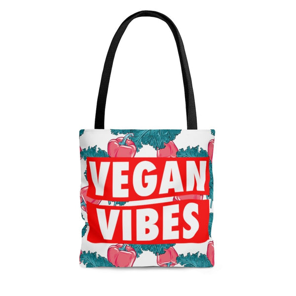 vegan vibes toe bag