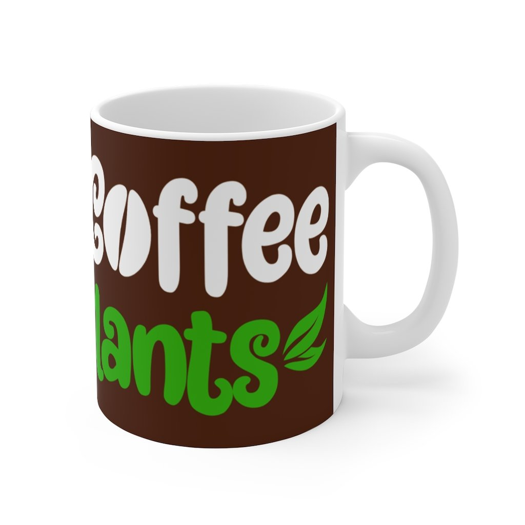 coffee plants vegan mug