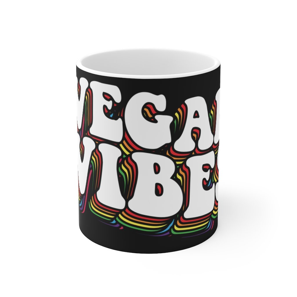 vegan vibes coffee mug