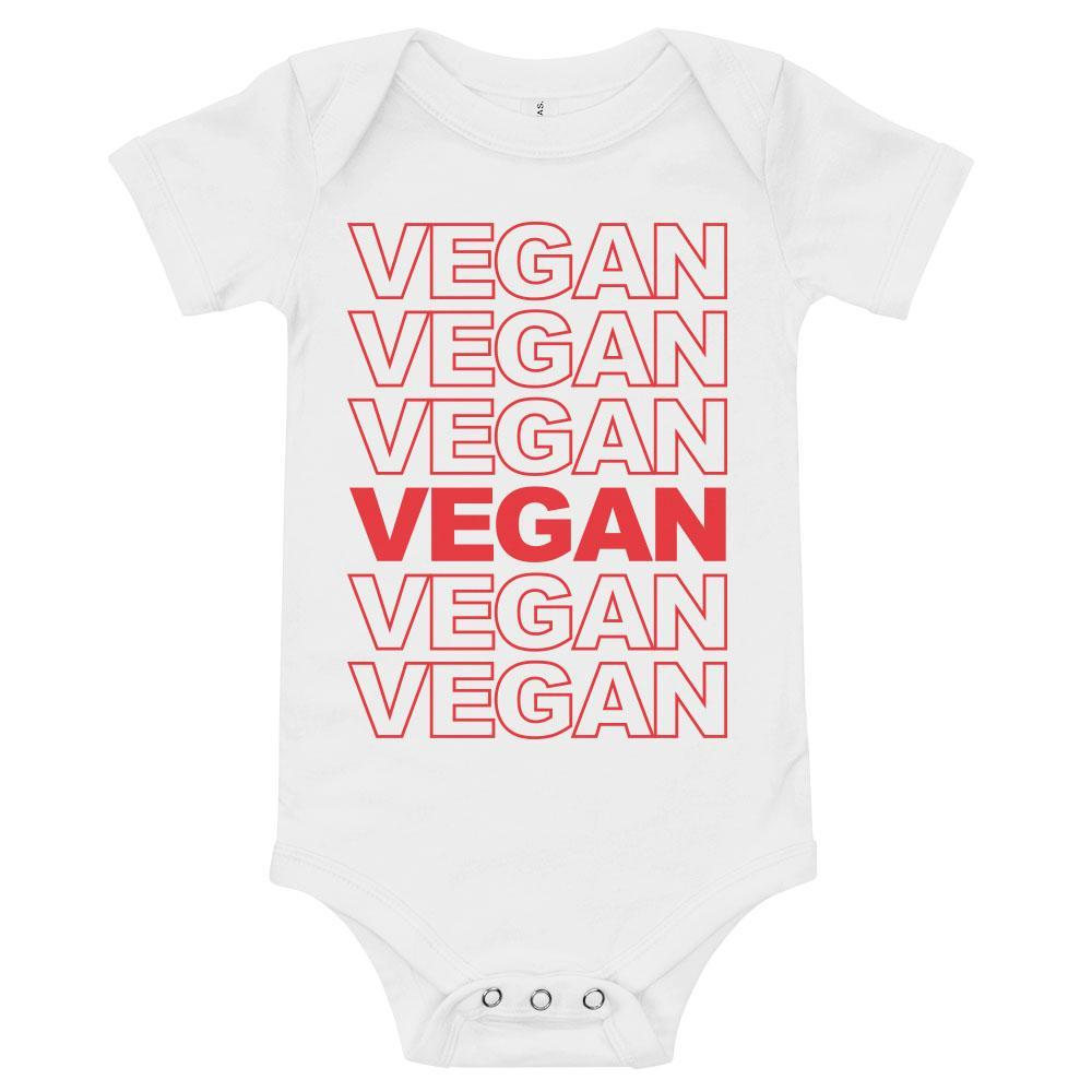 'VEGAN Vegan Vegan' Infant Onesie White