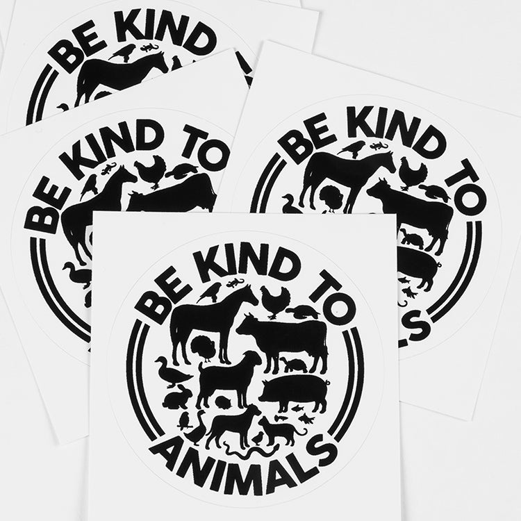 'Be Kind To Animals' Sticker