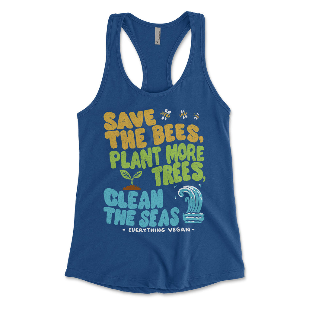 Bees Trees Seas Women's Tank Tops