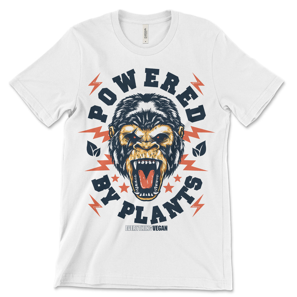 Powered by Plants Gorilla T Shirt