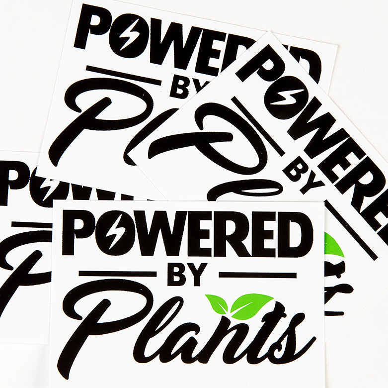 'Powered By Plant' Sticker
