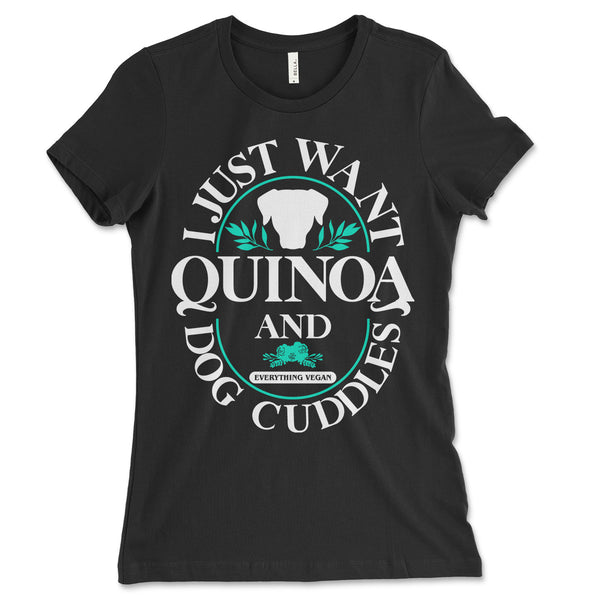 Quinoa And Dog Cuddles Womens Shirt