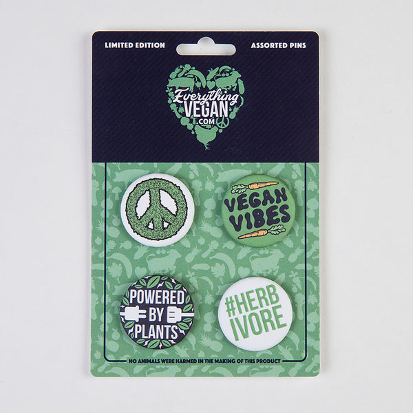 vegan pins