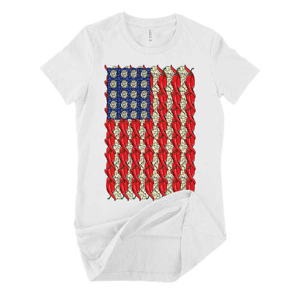 veggie flag womens shirt