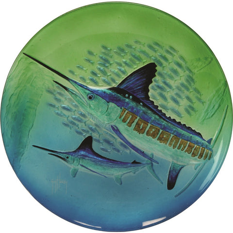 Rivers Edge Guy Harvey 18in Marlin Glass Platter