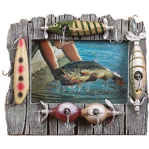 Rivers Edge Lure Picture Frame Resin