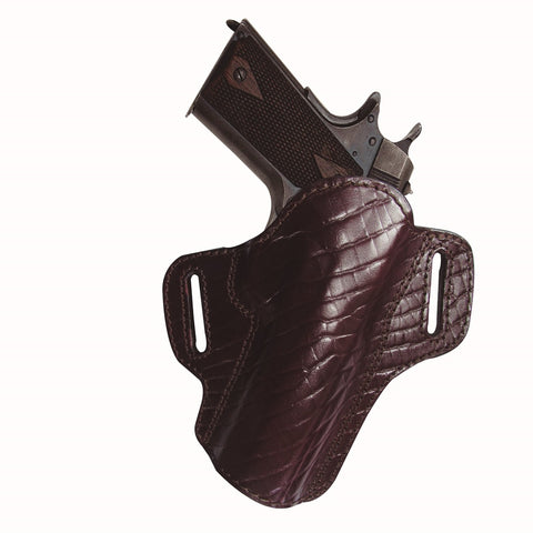 Tagua Premium Open Top Belt Holster SandW J Frame-Burgundy